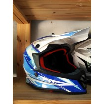 Youth Faseed Helmet Small Blue/white