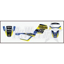pw50 Decals stickers kit Yamaha Blue / yellow