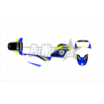 pw80 decals stickers- Yamaha Blue/yellow